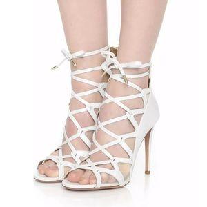 Authentic Aquazzura white sandals in size 36 1/2